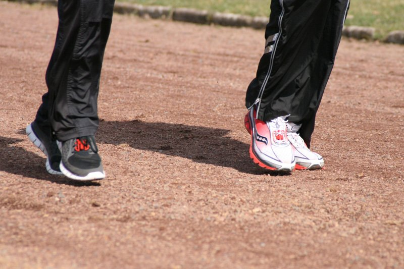 Schneller laufen trainieren.