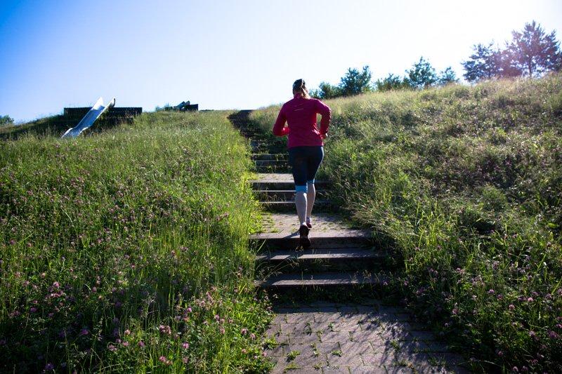 Treppenläufe im Training