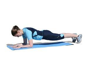 Unteramstütz (Plank) bringt Körperspannung im Training
