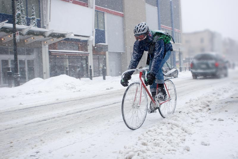 Radtraining im Winter