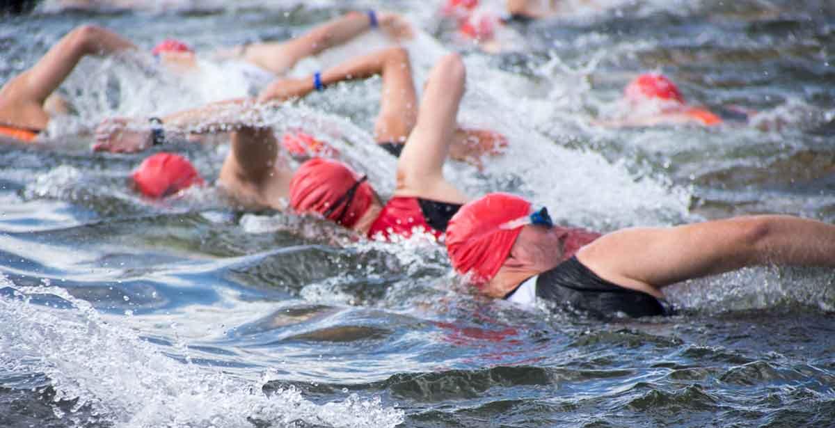 Freiwasserschwimmen Positionskämpfe