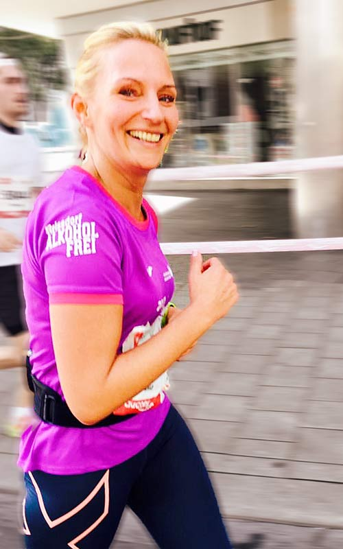 Julia beim Köln-Marathon
