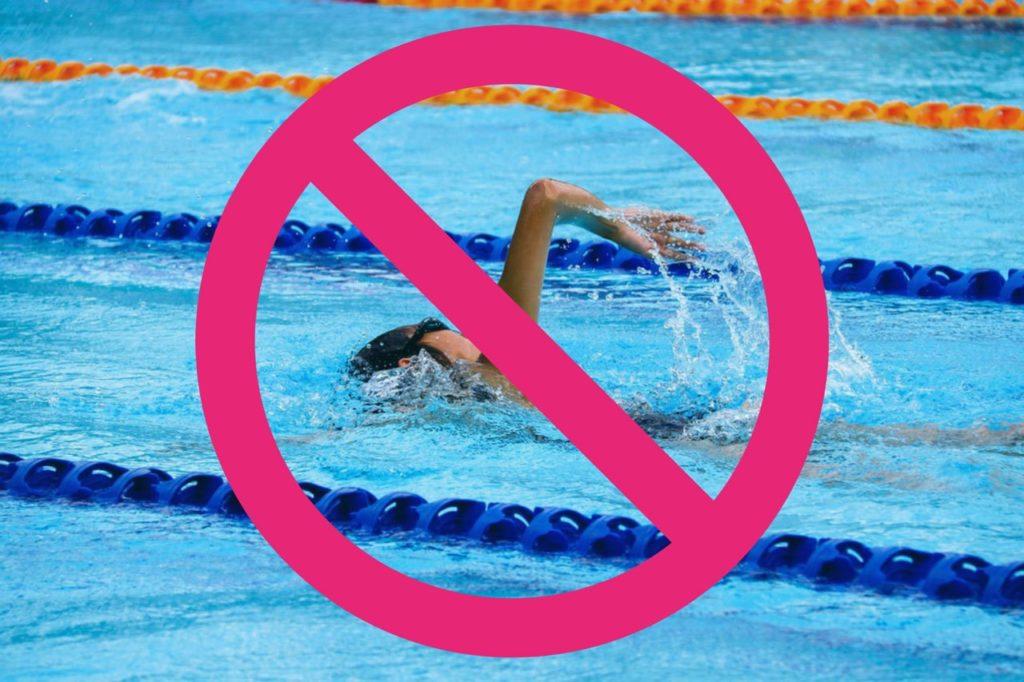Wie soll ich trainieren, wenn die Schwimmhalle gesperrt ist?